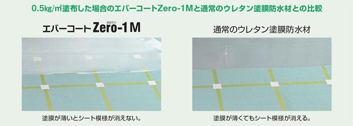 エバーコートZero-1Mと通常のウレタン塗膜防水材との比較